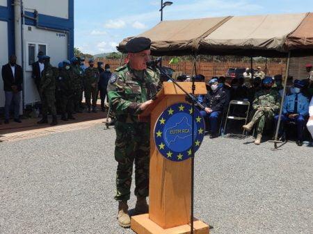 Le général de brigade Paulo Neves de Abreu, nouveau commandant de l'EUTM-RCA, le 18 septembre 2020. Photo CNC / D. Y. Ibrahim