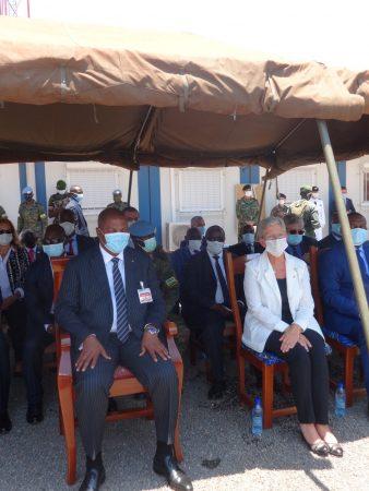 président touadera et le mi istre délégué auprès de la ministre des armées chargée de la memoire et des anciens combattantsmadame geneviève DARRIEUSSECQ le 18 septembre 2020 par ibrahim
