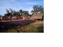 un village à 12 kilomètres de Bossangoa par cyrille yapendé