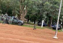 des soldats faca lors du congrès du parti MCU à Bangui, le 26 septembre 2020. Par Gisèle MOLOMA