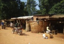 Le marché de Nanga Boguila, situé à 70 kilomètres de Paoua sur l'axe Bossangoa. Photo CNC