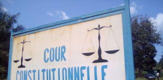 La pancarte de la Cour Constitutionnelle de Centrafrique
