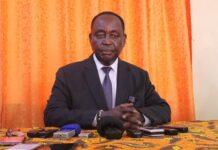 l'ancien Président François Bozizé lors de son point de presse à Bangui le samedi 21 novembre 2020 à la suite de l'incident militaire ayant opposé ses éléments de sécurité à ceux de la garde présidentielle. Photo CNC - Cyrille Jefferson Yapendé