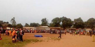 Vue d'ensemble du meeting de l'opposition démocratique ce mardi 24 novembre 2020 sur le terrin de l'UCATEX à Bangui. Photo CNC