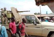 les soldats faca en patrouille à Bangui 3