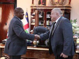 L'ambassadeur plénipotentiaire de la Fédération de Russie près la République centrafricaine, Monsieur Vladimir TITTORENKO