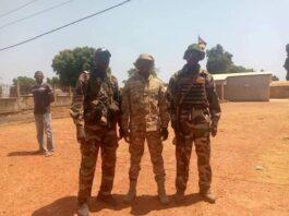Des soldats FACA à la frontière avec le Cameroun, le 11 février 2021