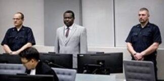L'ex-chef de milice centrafricain, Patrice-Edouard Ngaïssona, a comparu devant la CPI, à La Haye, le 25 janvier 2019. Koen van Weel / POOL / AFP