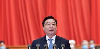 le haut législateur chinois Wang Chen