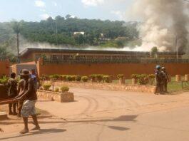 incendie à l'ambassade de France à Bangui le 22 avril 2021 par CNC