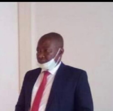 Le ministre de l'intérieur Henri Wanzet Linguissara