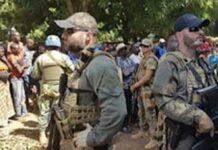 les mercenaires russes à Koundili vers Paoua