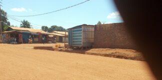 Croisement de Sinistrés dans le huitième arrondissement de Bangui. Photo CNC / Fortuné Bobérang