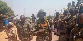 des faca à Bambari dans le véhicule et quelques uns à pieds