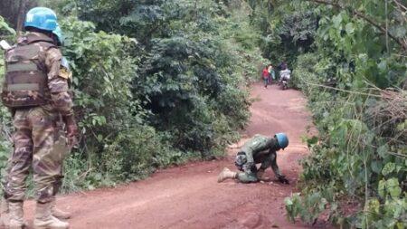 la minusca recherche des mines au sol photo minusca