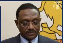 le ministre des affaires étrangères du Tchad Mahamat Zene Cherif