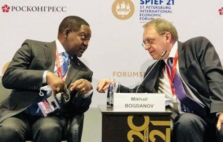 Le premier ministre Firmin Ngrebada au sommet économique de Russie 2021