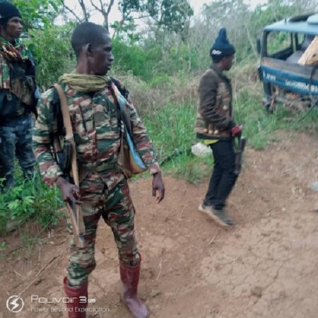 Les combattants rebelles de 3R dans la localité de Abba
