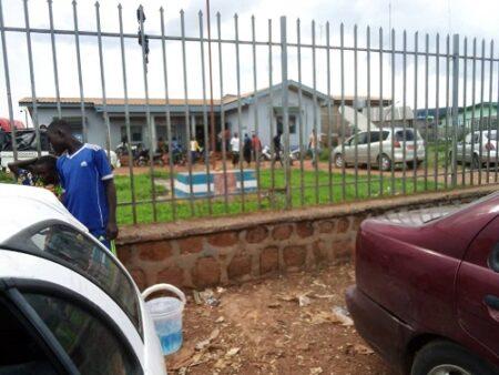 vue extérieure de la douane de Béloko