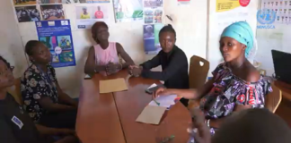 Réunion de l'Association centrafricaine des femmes sourdes et muettes