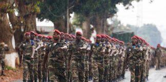 Défilé militaire au camp kassaï
