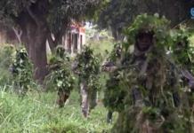 Les soldats FACA à Obo, dans le Haut-Mbomou. Photo CNC