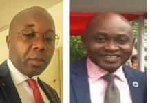 Le Directeur de cabinet au ministère de la jeunesse et des sports, Monsieur Arsène Ngrepayo à droite et le chargé de mission à la jeunesse Daniel Nzéwé à gauche. CopyrightCNC