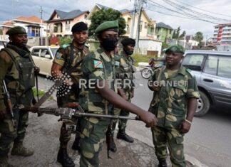 Des soldats congolais à Goma, capitale du nord Kivu en RDC